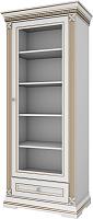 Шкаф с витриной WellMaker Патриция Элегант ШП1-80 (альпийский/латунь) -