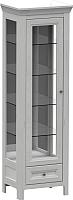 Шкаф-пенал с витриной WellMaker Норманн ШВ1-60 ПП (дижон) -