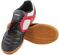 Бутсы футбольные Atemi SD730A Indoor (черный/белый/красный, р-р 37) -