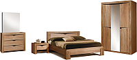 Комплект мебели для спальни ФорестДекоГрупп Герда-3 (дуб крафт) -
