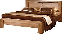 Двуспальная кровать ФорестДекоГрупп Герда 160 / СП 024-02 (дуб крафт) -