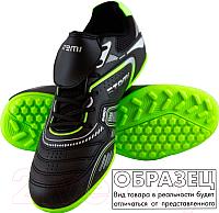 Бутсы футбольные Atemi SD400 TURF (черный/оранжевый/серый, р-р 35) -
