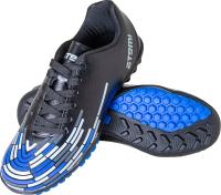 Бутсы футбольные Atemi SD400 TURF (черный/синий/серый, р-р 38) -