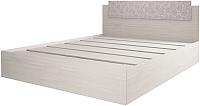 Полуторная кровать Астрид Мебель Марсель М-5 140x200 / ЦРК.МРС.01 (анкор белый) -