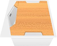 Мойка кухонная KitKraken Ocean K-600 + разделочная доска (белый) -
