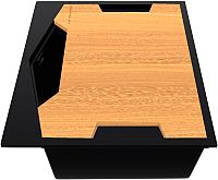 Мойка кухонная KitKraken Ocean K-600 + разделочная доска (черный) -