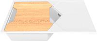 Мойка кухонная KitKraken Sea K-850 + разделочная доска (белый) -