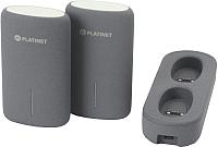 Портативное зарядное устройство Platinet 5000mAh / PMPB5DG (2шт, с док.станцией) -