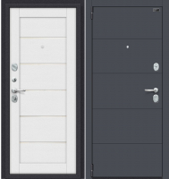 Входная дверь el'Porta Porta S 4.Л22 Graphite Pro/Virgin (88x205, левая) -