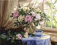 Картина по номерам Picasso Букет роз у окна (PC4050524) -