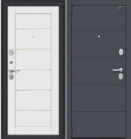 Входная дверь el'Porta Porta S 4.Л22 Graphite Pro/Virgin (98x205, левая) -