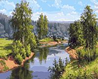 Картина по номерам Picasso Летом на реке (PC4050554) -
