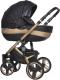 Детская универсальная коляска Riko Brano Ecco 3 в 1 (gold/black) -