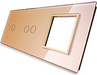 Лицевая панель комбинированная Livolo BB-C7-C1/C2/SR-13 -