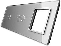 Лицевая панель комбинированная Livolo BB-C7-C1/C2/SR-15 -