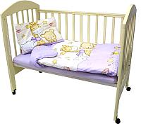 Комплект постельный в кроватку Топотушки Детский Мир 3 предмета / 319М/6 (сиреневый) -