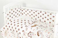 Комплект постельный в кроватку Топотушки Фантазия 6 предметов / 601/2 (лапки/бежевый) -