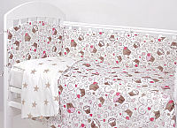 Комплект постельный в кроватку Топотушки Фантазия 6 предметов / 601/5 (пироженки/кофе) -