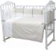 Комплект постельный в кроватку Топотушки Долли 6 предметов / 670/8 (серый) -