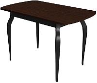 Обеденный стол Сакура Персей №2.2 (черный/венге) -