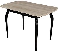 Обеденный стол Сакура Персей №2.2 (черный/шимо светлый) -