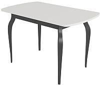 Обеденный стол Сакура Персей №2.2 (черный/бодега белый) -