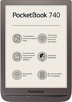Электронная книга PocketBook InkPad 3 / PB740-X-CIS (темно-коричневый) -