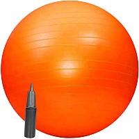 Фитбол гладкий Sundays Fitness IR97402-65 (оранжевый, с насосом) -