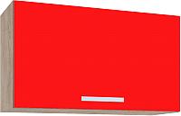 Шкаф под вытяжку Интерлиния Мила ВШГ60-360 (красный) -
