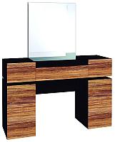 Туалетный столик с зеркалом Глазов Hyper 1 (венге/палисандр темный) -