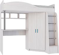 Кровать-чердак Астрид Мебель Каприз-2 / ЦРК.КПР.02 (анкор белый) -