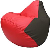Бескаркасное кресло Flagman Груша Макси Г2.3-0916 (красный/черный) -