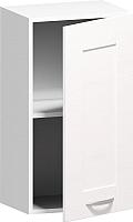 Шкаф навесной Заречье Румба РБ20 (белый/фасад Weave) -