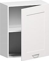Шкаф навесной Заречье Румба РБ21 (белый/фасад Weave) -