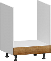 Шкаф под духовку Заречье Румба РБ25 (белый/дуб ривьера) -