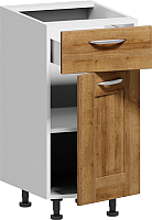 Шкаф-стол кухонный Заречье Румба РБ26 (белый/дуб ривьера) -