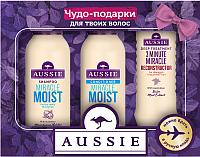 Набор косметики для волос Aussie Miracle Moist шампунь+бальзам+реконструктор 3 Minute Miracle (90мл+90мл+75мл) -
