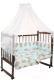 Комплект постельный в кроватку Fun Ecotex Сони / FE 10024 (3пр, голубой) -
