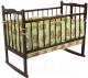 Комплект постельный в кроватку Fun Ecotex Сони / FE 10024 (3пр, зеленый) -