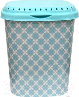 Купить Корзина для белья Violet, С декором Сканди / 194047 (40л), Россия, пластик