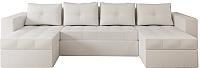Диван П-образный Настоящая мебель Константин НПБ экокожа (белый) -