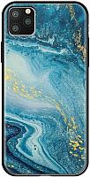 Чехол-накладка Deppa Glass Case для iPhone 11 Pro / 87253 (голубой агат) -