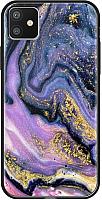 Чехол-накладка Deppa Glass Case для iPhone 11 / 87263 (фиолетовый агат) -