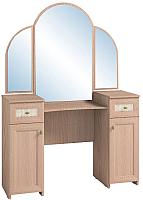 Туалетный столик с зеркалом Глазов Милана 1 (дуб отбеленный) -