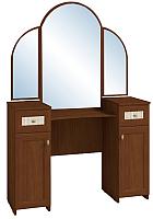 Туалетный столик с зеркалом Глазов Милана 1 (орех) -