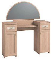 Туалетный столик с зеркалом Глазов Милана 2 (дуб отбеленный) -