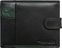 Портмоне Cedar 4U Cavaldi N992L-SCV (черный/зеленый) -