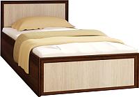 Односпальная кровать Астрид Мебель Юниор / ЦРК.ЮНР.01 (венге/анкор белый) -