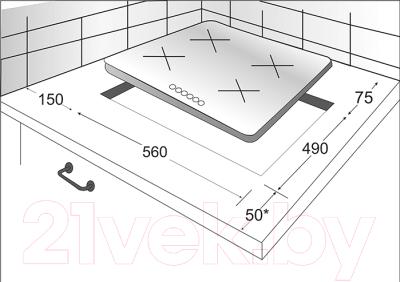 Комплект встраиваемой техники Exiteq F41MR + PFH640STGB-E/B