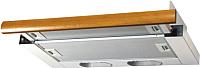 Вытяжка телескопическая Elikor Интегра 50П-400-В2Л (белый/дуб коричневый) -